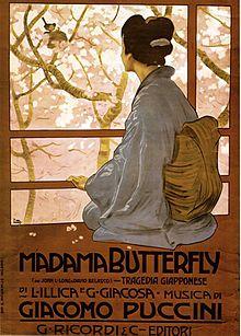 Madama Butterfly Affiche de Leopoldo Metlicovitz 1904